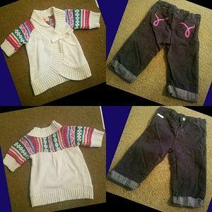 Girls sweater & Jeans bundle
